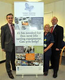 Dr Rob Dyer, Dr Mark Feeney and Unit Manager Teresa Helmore
